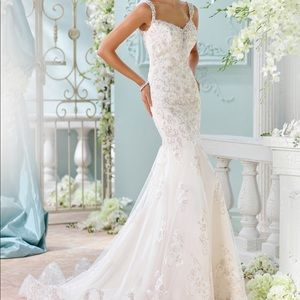 David Tutera by Mon Cheri Lace Wedding Dress